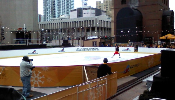 16th Street Mall South West Airlines Ice Skating Rink